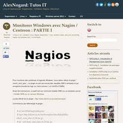 Monitoring Windows Nagios / Centreon: install check_wmi_plus