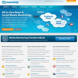 CustomScoop | Media Monitoring, Online News Clipping, Media Intelligence, & Media Analysis - CustomScoop