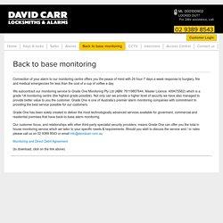 Back to base monitoring - David Carr Locksmiths