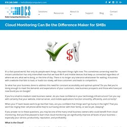 Cloud Monitoring Can Be the Difference Maker for SMBs