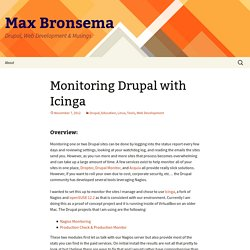 Monitoring Drupal with Icinga