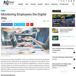 Monitoring Employees the Digital Way