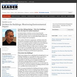 Stickers for Buildings: Monitoring Environmental Impact · Environmental Leader · Green Business, Sustainable Business, and Green Strategy News for Corporate Sustainability Executives