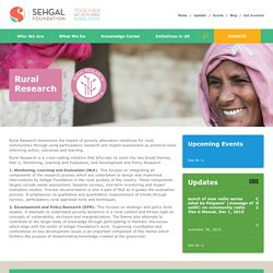 Rural Research in India, Monitoring and Evaluation-Sehgal Foundation