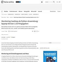 Monitoring bashtop as a Python application: bpytop