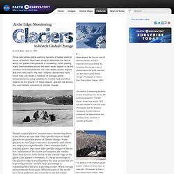 Monitoring Glaciers - extra detail on the methods
