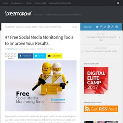 46 Free Social Media Monitoring Tools