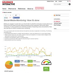 Social Media Monitoring: How it's done - Technical Papers - Current News - Goldbach Interactive
