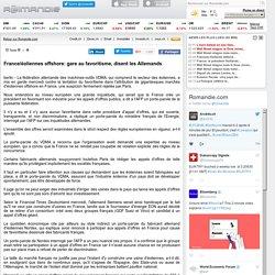 France/éoliennes offshore: gare au favoritisme, disent les Allemands