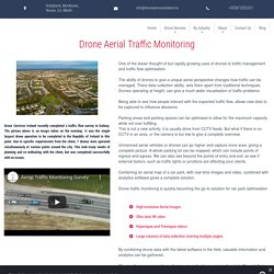 Drone Traffic Monitoring Solutions for Planning and Managememt