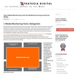 Top 5 Media Monitoring Tools für Medienforschung und Social Media - Strategia Digital