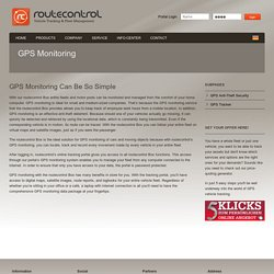 GPS Monitoring System - Monitor Your Fleet The Easiest Way