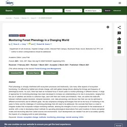 FORESTS 05/03/21 Monitoring Forest Phenology in a Changing World