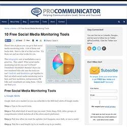 10 Free Social Media Monitoring Tools