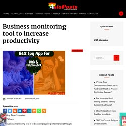 Business monitoring tool to increase productivity