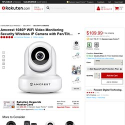 Amcrest 1080P WiFi Video Monitoring Security Wireless IP Camera