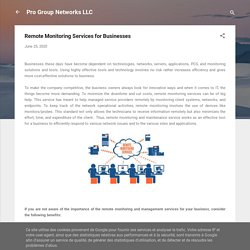 Remote Monitoring Services for Businesses