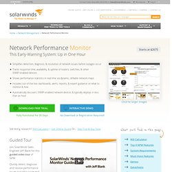 Orion Network Performance Extensions from SolarWinds