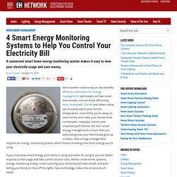 4 Smart Energy Monitoring Systems to Help You Control Your Electricity Bill - EH Network
