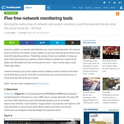 Five free network monitoring tools