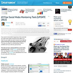 54 Free Social Media Monitoring Tools [Update2012]