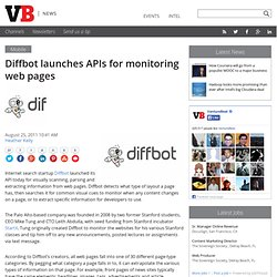 Diffbot launches APIs for monitoring web pages