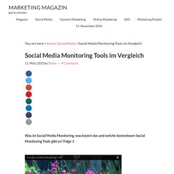 Social Media Monitoring Tools im Vergleich › Marketing Magazin