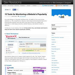15 Tools for Monitoring a Website's Popularity