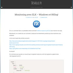 Monitoring avec ELK – Windows et NXlog!