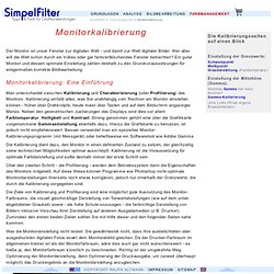 SF - Farbmanagement - Monitorkalibrierung