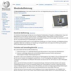 Monitorkalibrierung