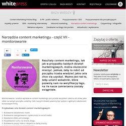Monitorowanie w content marketingu