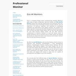 Eizo 4K Monitors - Professional Monitor