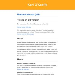Calendar - Wiki - monket.net