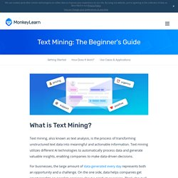 MonkeyLearn - Text Mining: The Beginner's Guide