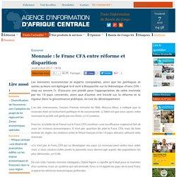 Monnaie : le Franc CFA entre réforme et disparition