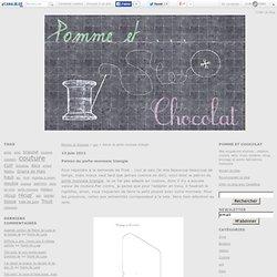 Patron du porte-monnaie triangle - Pomme et Chocolat