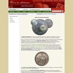 Les pièces de monnaies françaises de collection