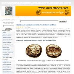 Les monnaies grecques antiques : présentation générale