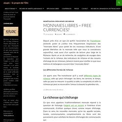 Monnaies libres = free currencies?