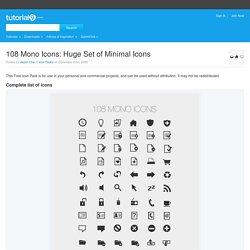 108 Mono Icons: Huge Set of Minimal Icons