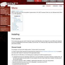 Mono - WineHQ Wiki