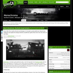 Road to Monochroma - Platformer Design Elements tutorial