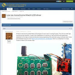 Low res monochrome Hitachi LCD driver - Papilio One - Gadget Factory Forum