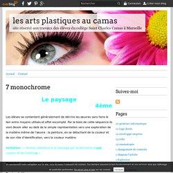 7 monochrome - les arts plastiques au camas