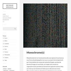 Monochrome(s) – Reynald Drouhin