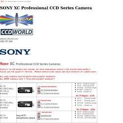 CCDWorld Inc - CCD Vision Module Cameras - Sony, Pulnix, Panasonic Color/Monochrome CCD Vision Camera Modules and Lenses - We specialize in camera modules Series XC, XCD, EVI, FCB, DXC, DFW, TM, TMC, GP, CV and Camera Repair