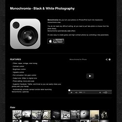 Monochromia - Black & White Photography - mudaimemo iPhone Apps
