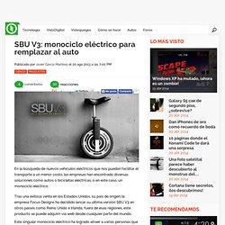 SBU V3: monociclo eléctrico para remplazar al auto