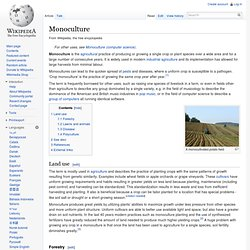 WIKIPEDIA ANGLOPHONE – Monoculture.